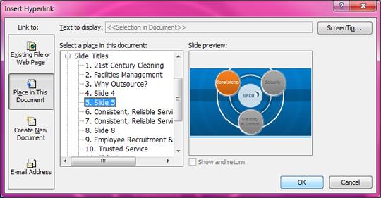 hyperlinks in slideshark PowerPoint Hyperlink Location
