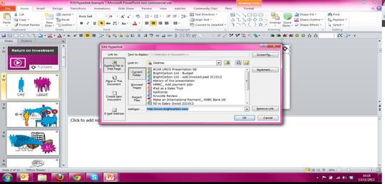hyperlinks in slideshark External PowerPoint Web Links