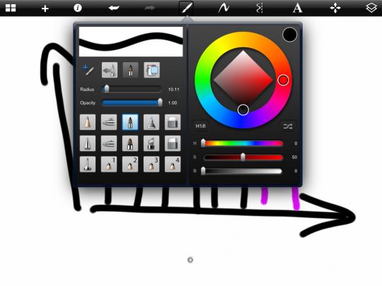 Toolbar from SketchBookX