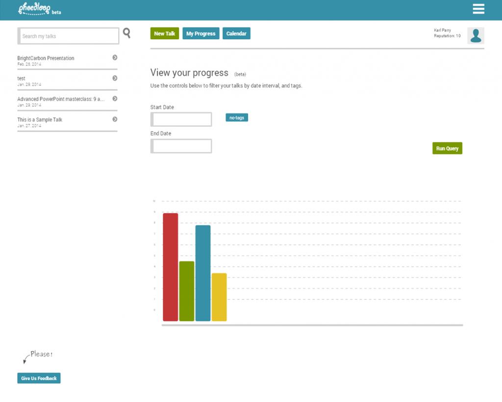 Pheedloop review Track Your Progress
