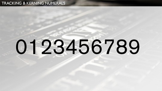 Kerning Numerals