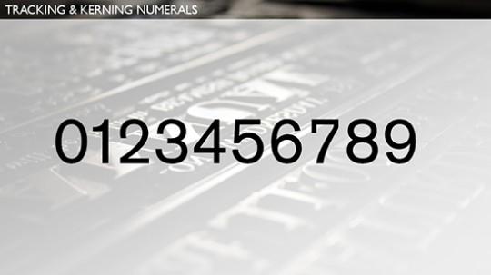 Kerning Numerals 2