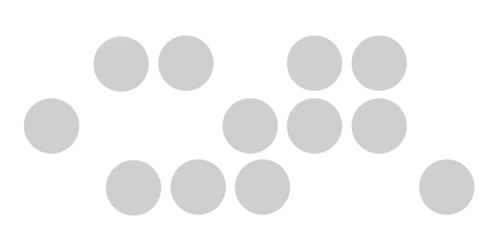 Multiple PowerPoint shapes scattered on a slide