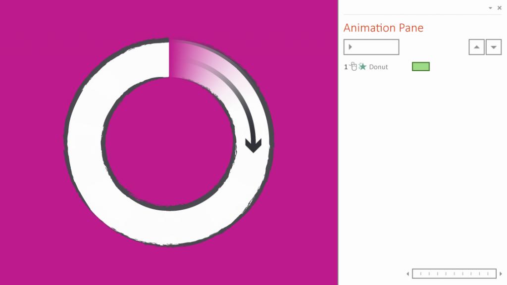 Wheel animation in PowerPoint
