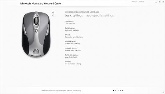 Microsoft Mouse and Keyboard Center Screenshot 01