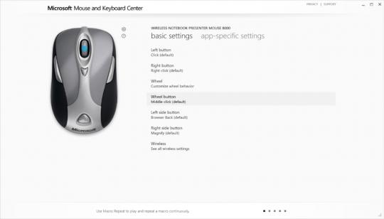 Microsoft Mouse and Keyboard Center Screenshot 02