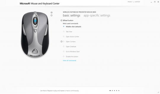 Microsoft Mouse and Keyboard Center Screenshot 03