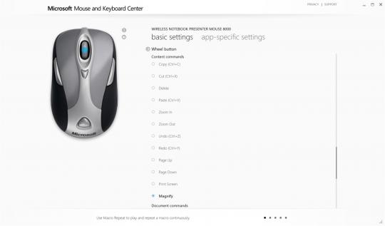 Microsoft Mouse and Keyboard Center Screenshot 04