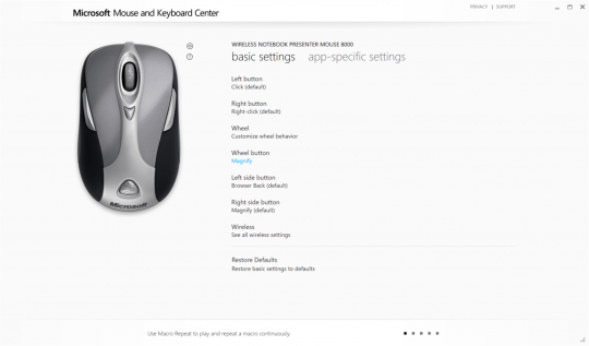 Microsoft Mouse and Keyboard Center Screenshot 05