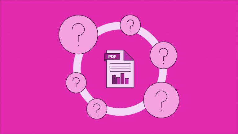 Interactive PDF use