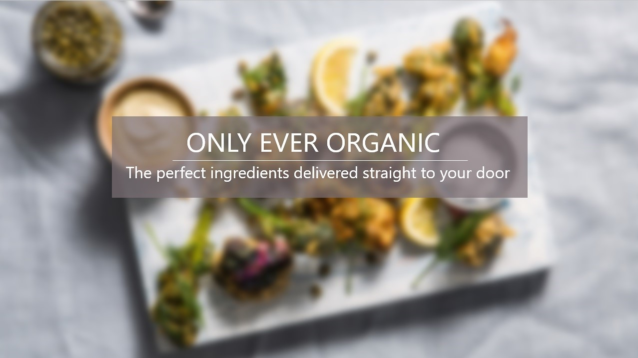 organic food with blur effect