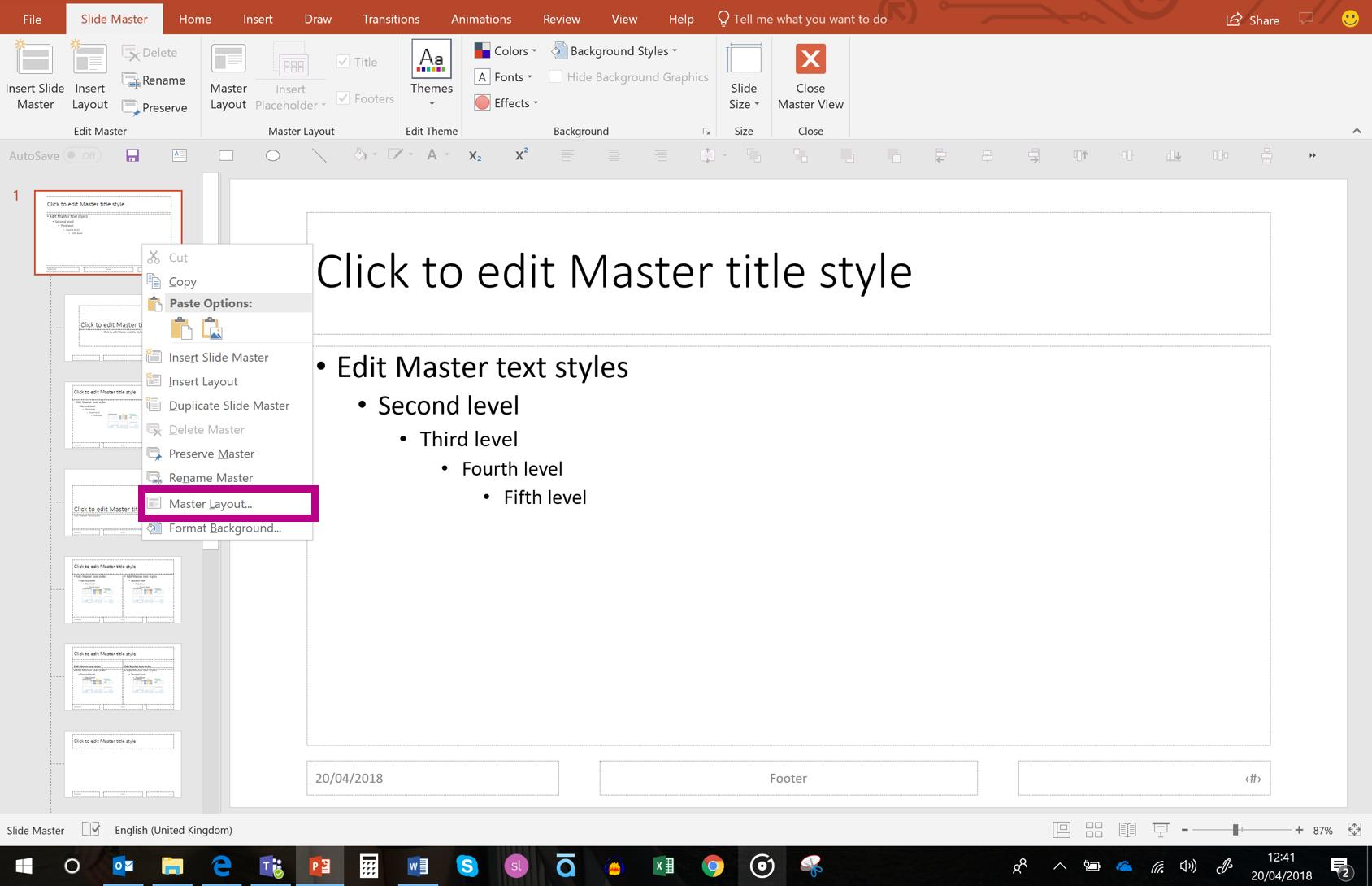 add slide numbers in powerpoint