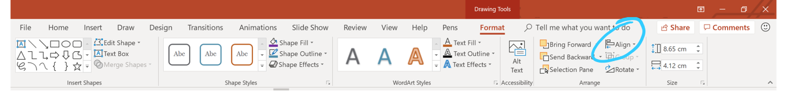 PowerPoint grids and guides_aliign tools