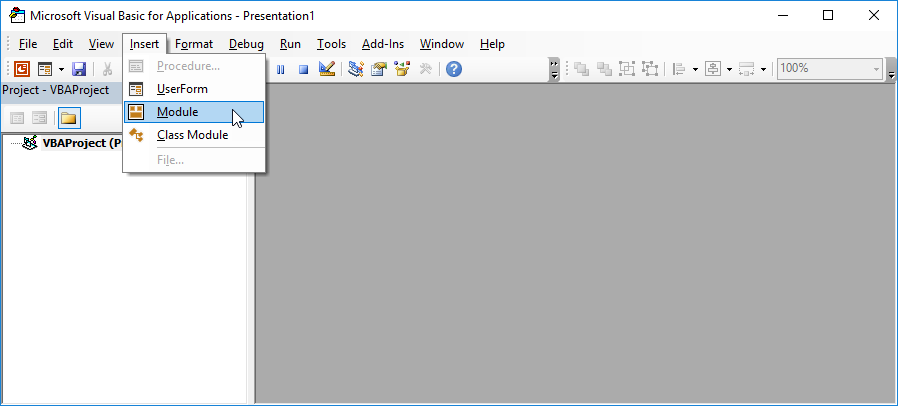 PowerPoint VBE Insert Module