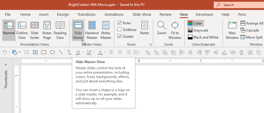 PowerPoint View Slide Master