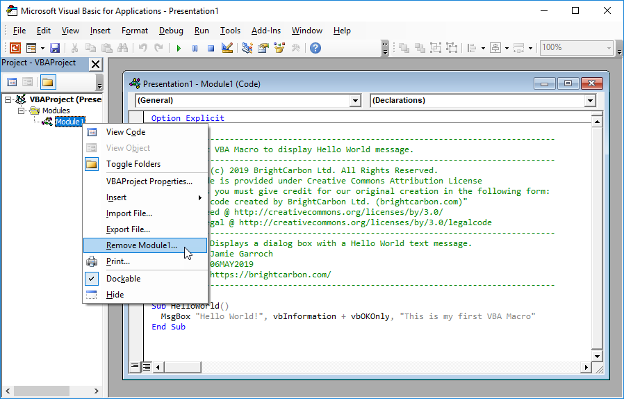 How To Use Vba In Powerpoint A Beginner S Guide Brightcarbon