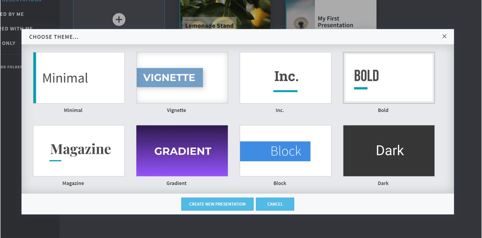 PowerPoint alternative beautiful.ai screenshot