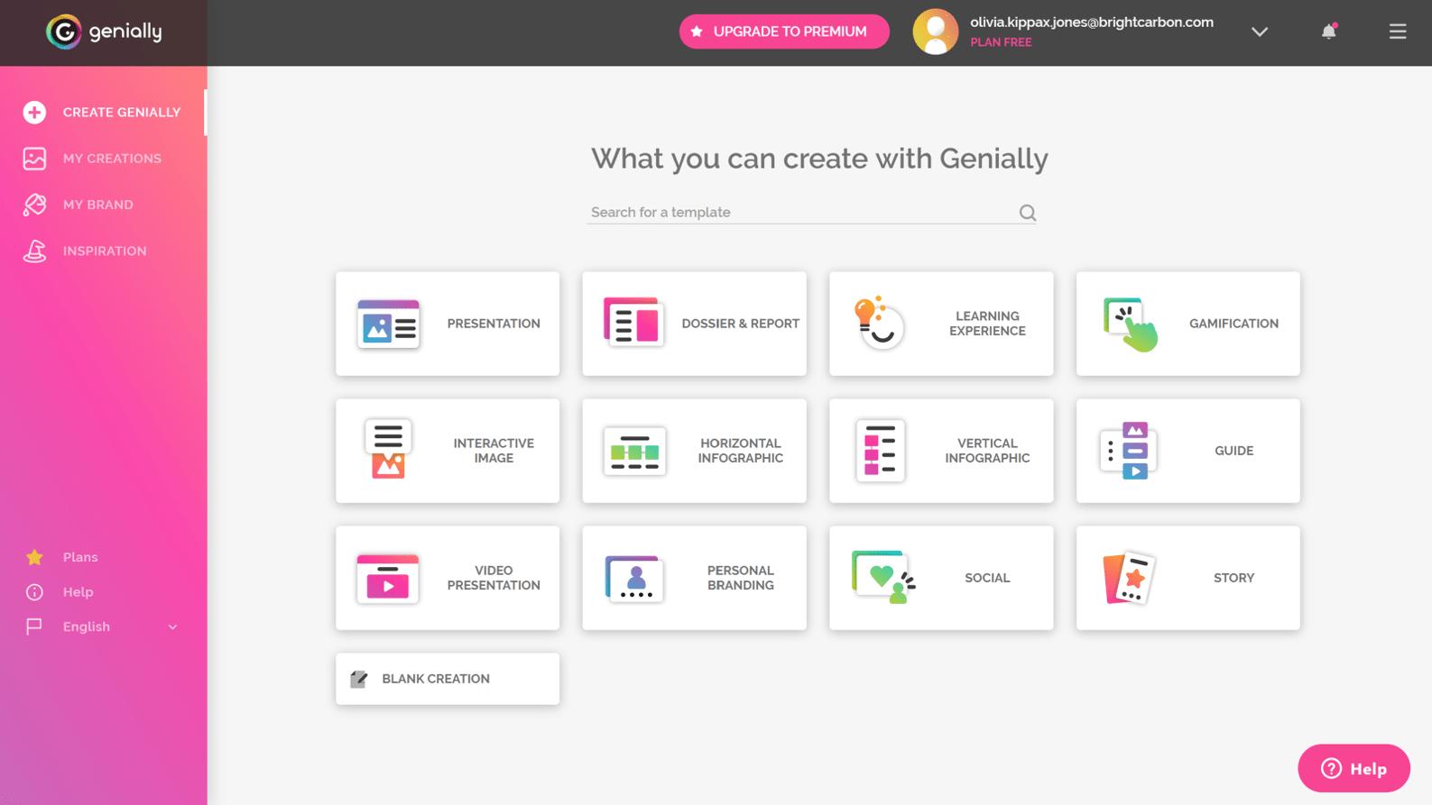 PowerPoint alternative Genially screenshot
