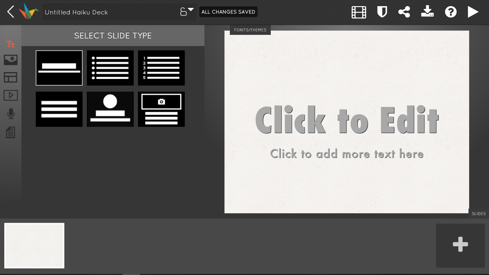 PowerPoint alternative Haiku Deck screenshot