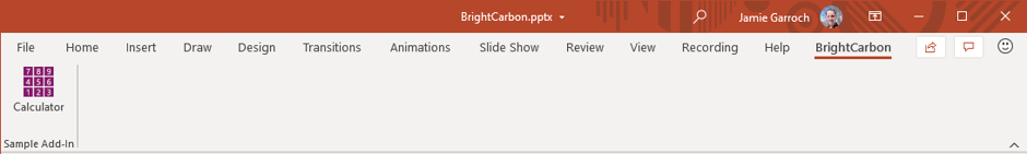 BrightCarbon's PowerPoint automation solutions test in the ribbon