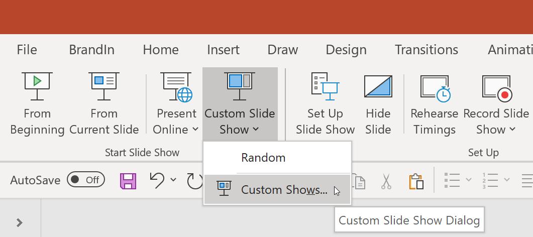 PowerPoint random slide show screenshot 2